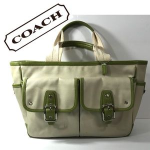 Coach Hampton Canvas Tote Carryall